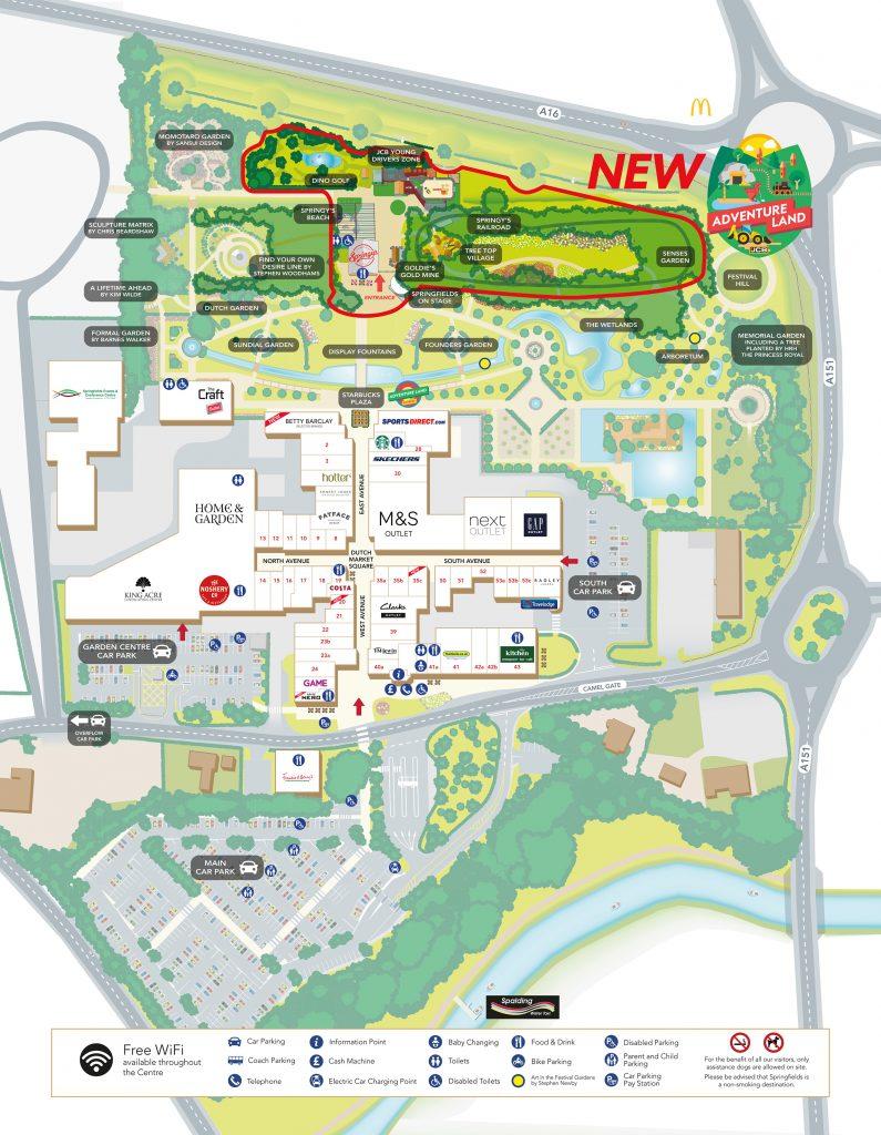 Springfields Site Map