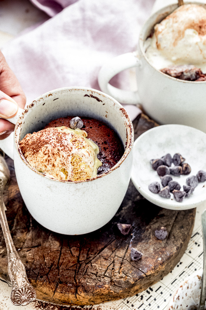 Chocolate Week Flourless Chocolate Mug Cake By Sandhya S Kitchen Springfields